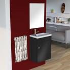 Lave mains avec meuble LILA 44x26cm avec miroir - gris anthracite