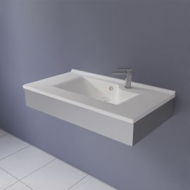 FRAMALU sans vasque, 45cm de profondeur - 4 largeurs différentes
