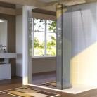 Paroi de douche fixe avec retour 8 mm BAYA - 120+40 cm et miroir