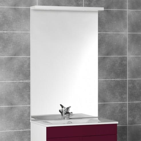 Miroir avec bandeau spots MIRCOLINE - 70 cm