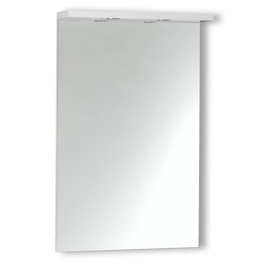 Miroir avec bandeau spots for Miroir 70 cm