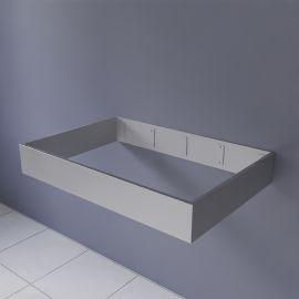 FRAMALU sans vasque, 54cm de profondeur - 6 largeurs différentes