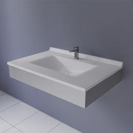 FRAMALU avec plan vasque blanc, 54cm de profondeur - 6 largeurs différentes