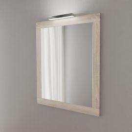 Miroir avec applique LED MIRALT - 80 cm - cambrian