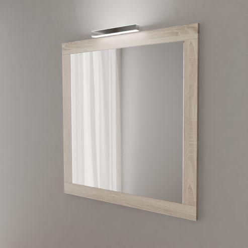 Miroir avec applique LED MIRALT - 90 cm - cambrian