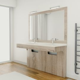Meuble double vasque PMR - ALTEA Cambrian 140 cm