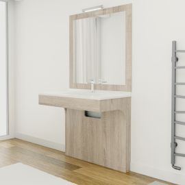 Meuble simple vasque PMR ALTEA Cambrian - 90 cm