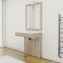 Meuble simple vasque PMR ALTEA Cambrian - 70 cm