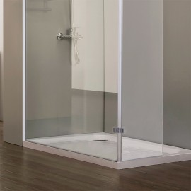 Paroi de douche fixe avec retour 8 mm CALYPSO - 100+40 cm