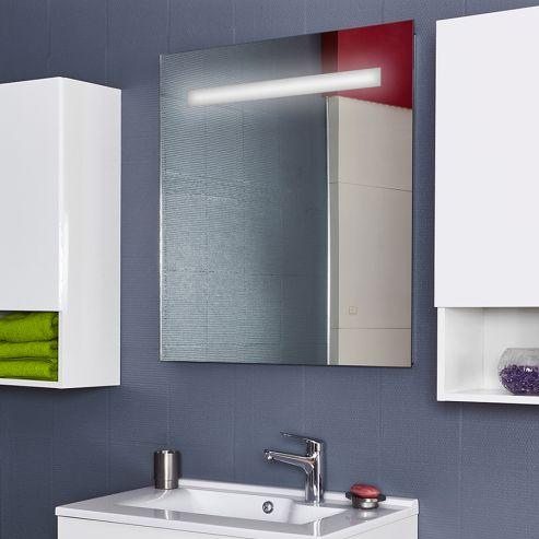Miroir LED rétro éclairé ELEGANCE - 80x80 cm - avec interrupteur sensitif