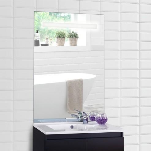 Miroir rétro éclairé MIRLUX - 70x105 cm - avec interrupteur sensitif