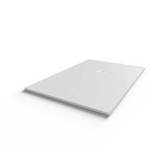 Receveur DIAMANT ardoise coloris blanc en résine allégée - 90*140 cm