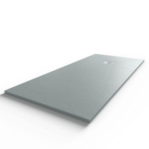 Receveur DIAMANT ardoise coloris ciment en résine allégée - 80*180 cm