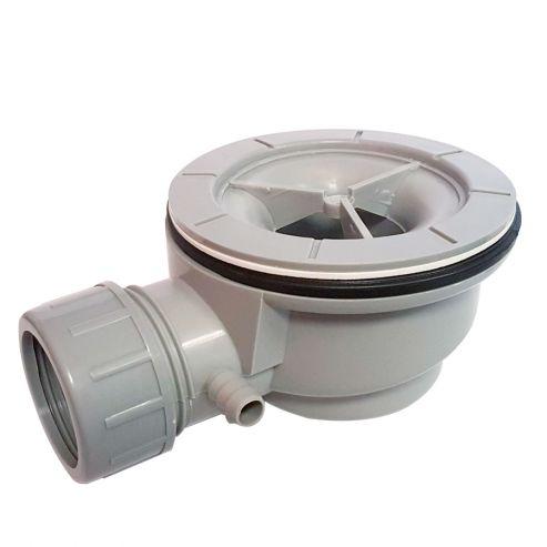 Bonde de douche extra-plate Ø 90mm avec grille