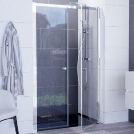 Paroi de douche avec 2 portes pivotantes 6mm ATLANTIC - 120cm