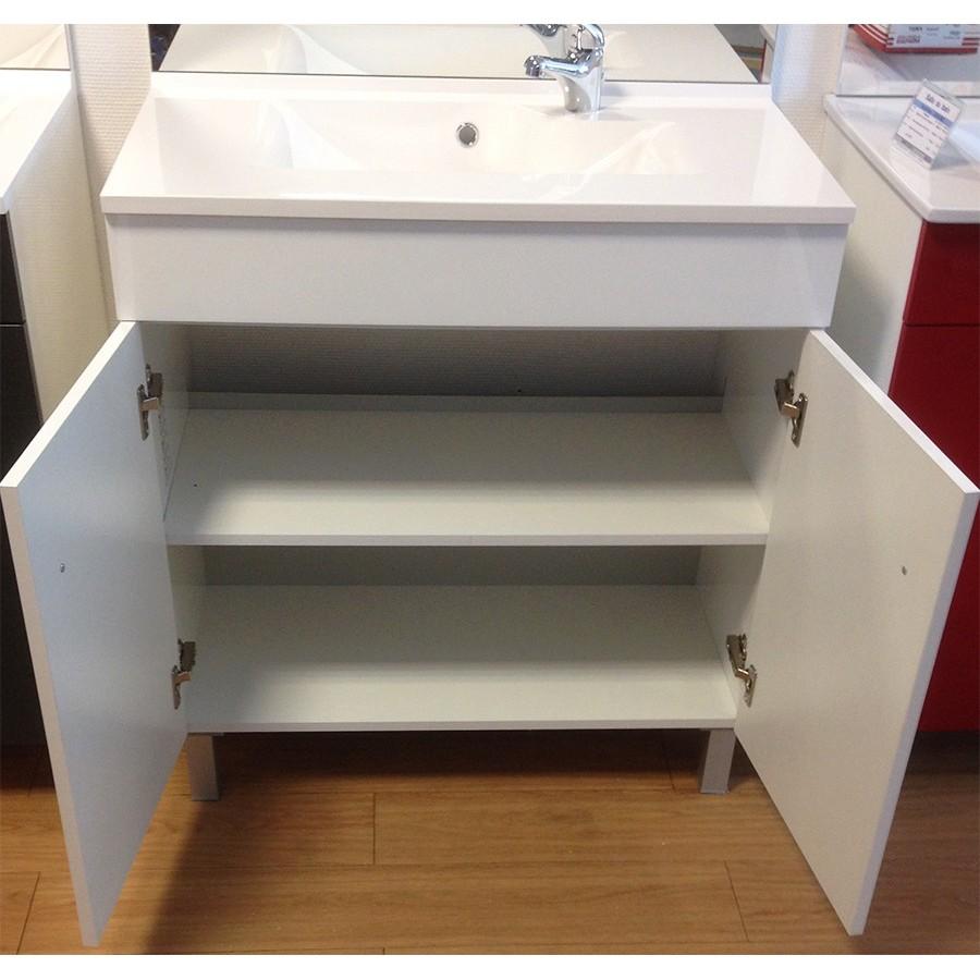 meuble de salle de bain avec vasque et miroir. Black Bedroom Furniture Sets. Home Design Ideas