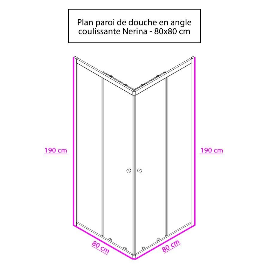 paroi angle douche 80x80 paroi de douche d 39 angle avec porte pivotante nerina creazur paroi. Black Bedroom Furniture Sets. Home Design Ideas