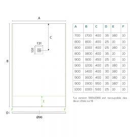 Miroir salle de bain design PIANA - 80 cm + applique