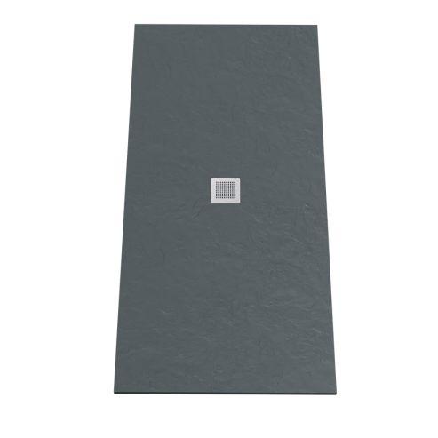 Receveur DIAMANT ardoise coloris anthracite en résine allégée - 90190 cm