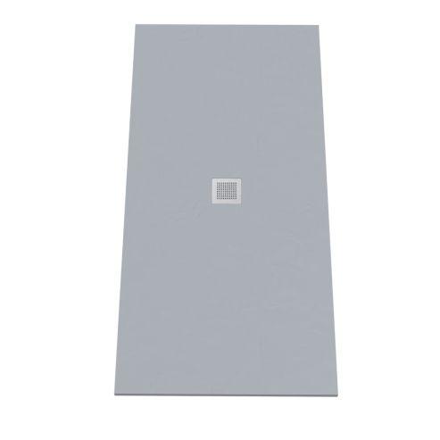 Receveur DIAMANT ardoise coloris ciment en résine allégée - 90190 cm