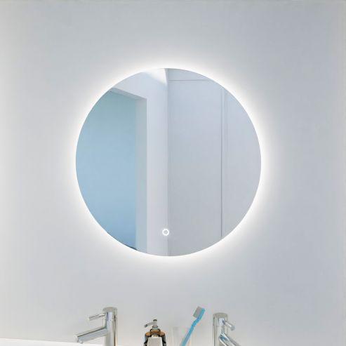 Miroir rond FAZZIO- 60 cm - avec interrupteur sensitif et éclairage intérieur LED