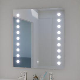 Miroir LED anti-buée STARLED - 70x80 cm - avec interrupteur sensitif