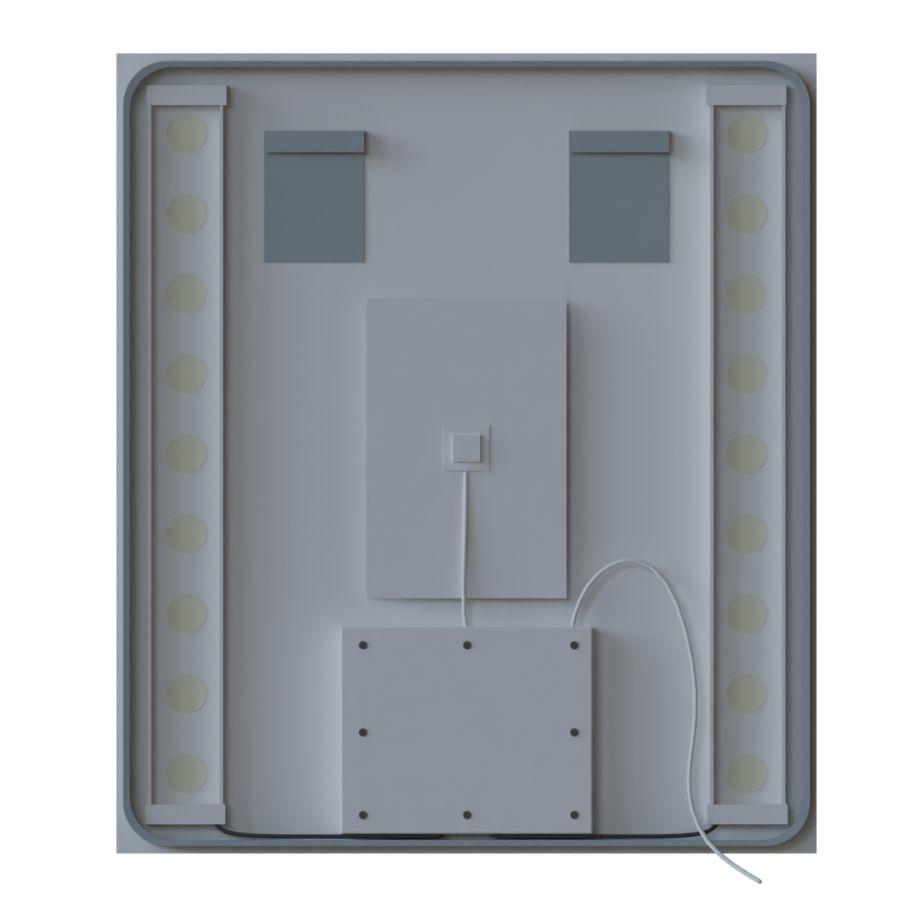 Miroir avec applique et tag res pas cher for Miroir salle de bain avec etagere