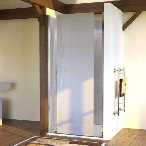 Porte de douche sablé 6mm SANDY - 100cm