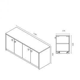 Meuble salle de bain CARLA 100-136 cm - Orange