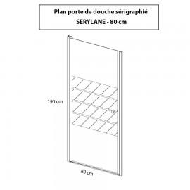 Porte de douche 6mm SERYLANE - 80cm
