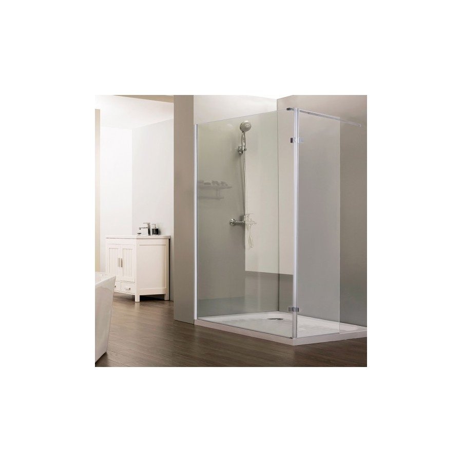 paroi de douche fixe avec retour 10 mm sturdy 120 40 cm unesalledebain. Black Bedroom Furniture Sets. Home Design Ideas
