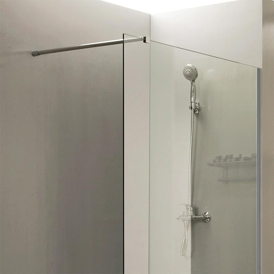 Paroi de douche fixe 8 mm calypso 120 cm unesalledebain - Barre de douche 120 cm ...