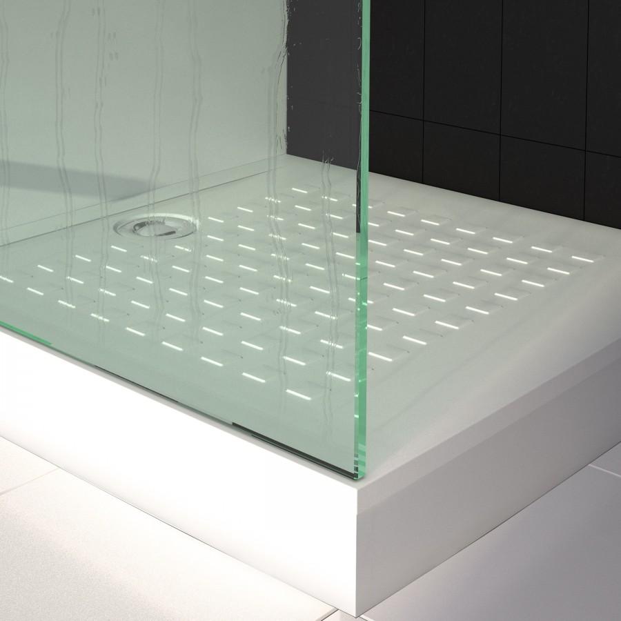 receveur de douche ultra plat blanc r sibac 100x80 cm. Black Bedroom Furniture Sets. Home Design Ideas
