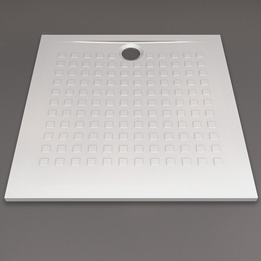 receveur de douche ultra plat blanc r sibac 80x80 cm. Black Bedroom Furniture Sets. Home Design Ideas