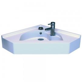 Vasque d'angle suspendu blanc 50x50 cm RÉSIANGLE
