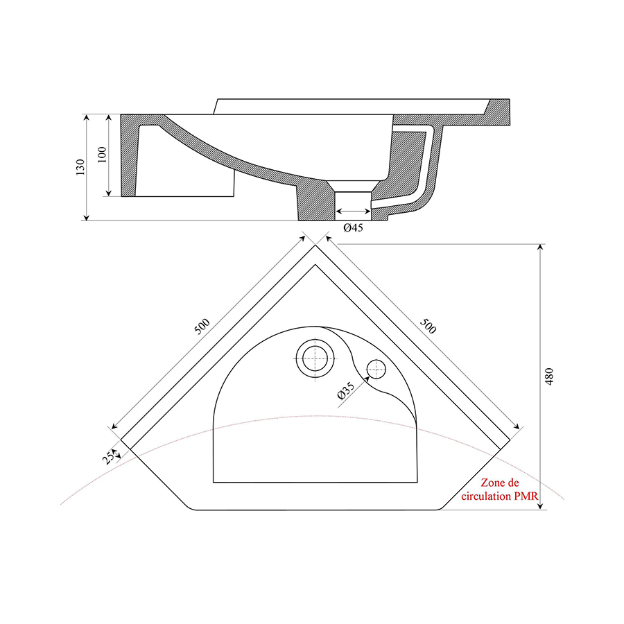 vasque suspendu de salle de bain en r sine. Black Bedroom Furniture Sets. Home Design Ideas