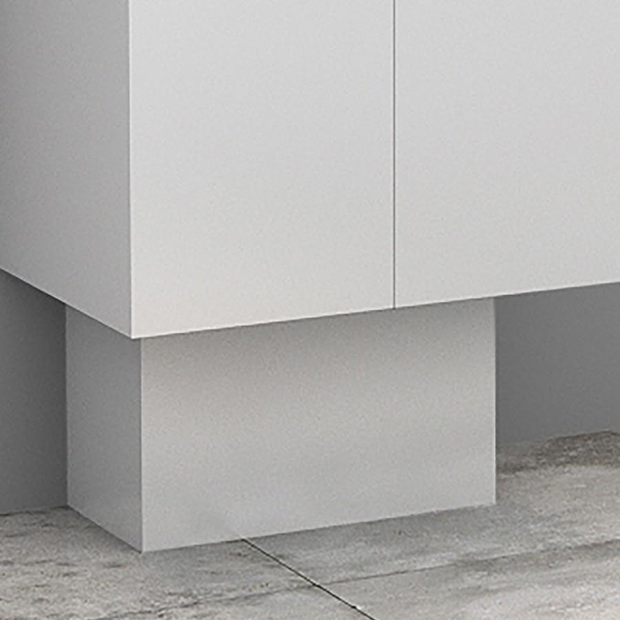 Cache-tuyaux pour meuble salle de bain coloris wengé
