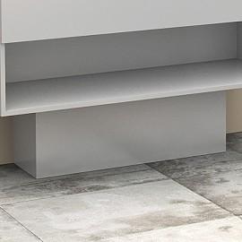 Cache-tuyaux coloris Blanc brillant - 80cm
