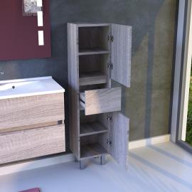 Armoire de salle de bain réversible UNIVERS - Cambrian oak