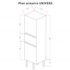 Armoire de salle de bain réversible UNIVERS - Gris anthracite